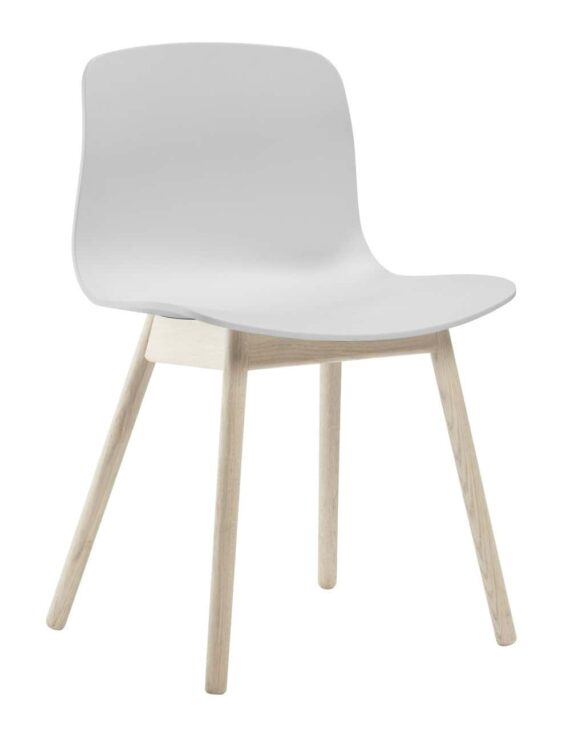 About a Chair 12 Oak Soaped Base white