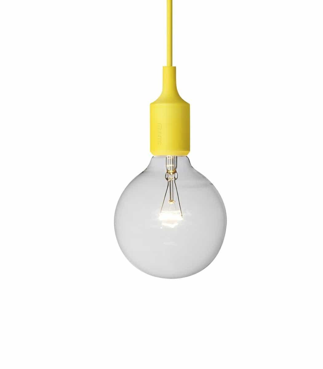 Ekstra Muuto - E27 lampe, gul - Interiørbutikken IP-54