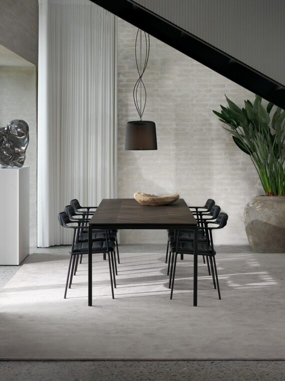 Naver Corian spisebord meik kant Ø 160 cm Interiørbutikken