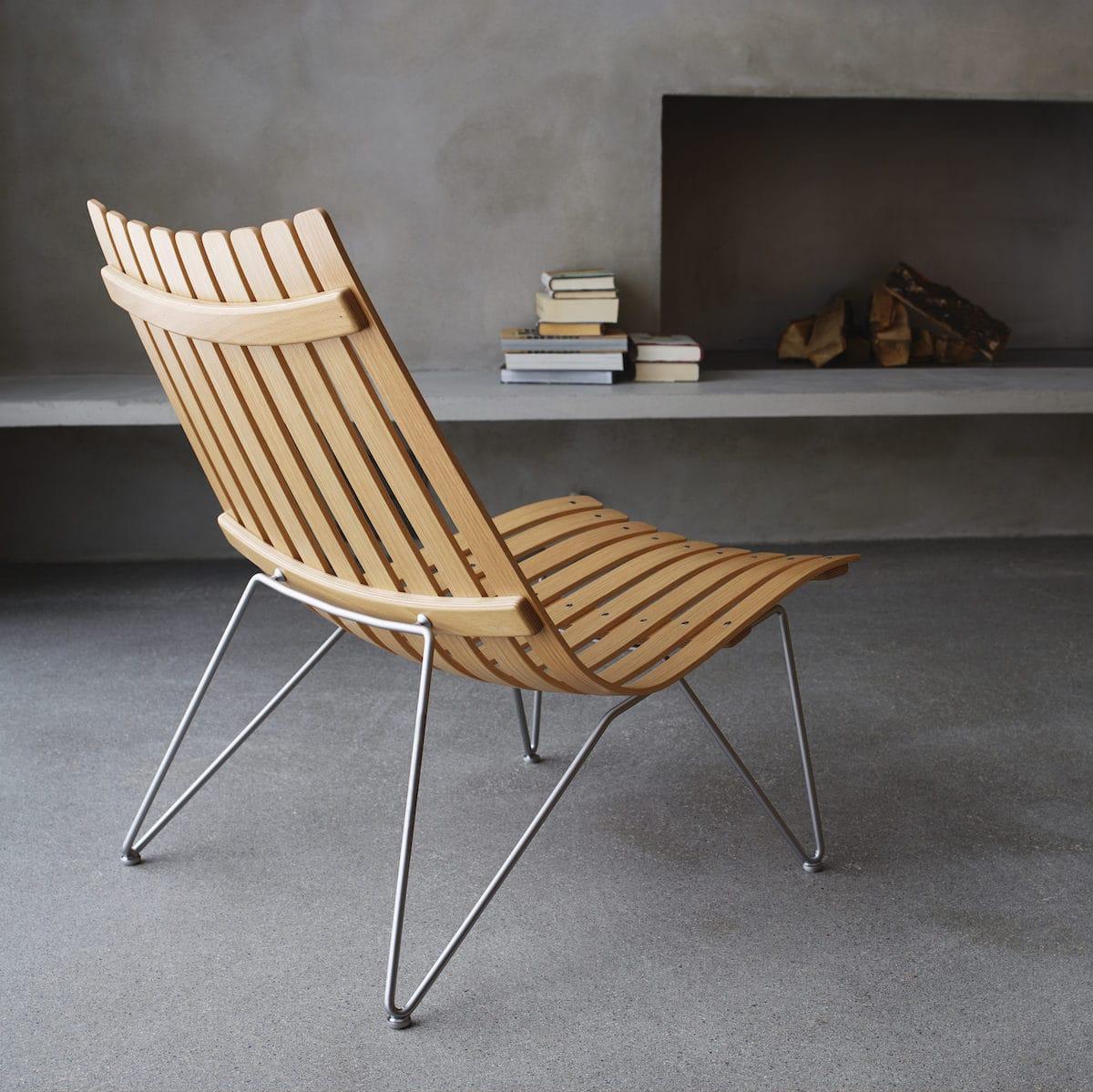 Fjordfiesta Scandia Nett Lounge chair, Eik hvitolja