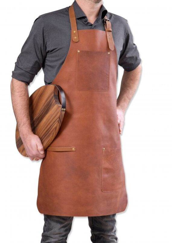 stuff design apron dark brown