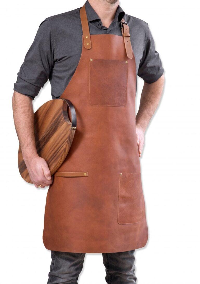 stuff design apron dark brown