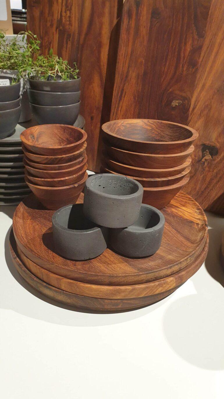 stuff design concrete bowl black